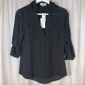 Express- Original Fit The Convertible Sleeve Shirt